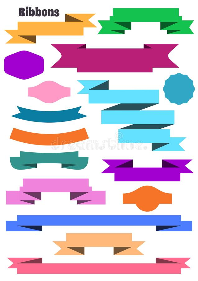 Download Ribbon banners stock vector. Illustration of element - 39515611