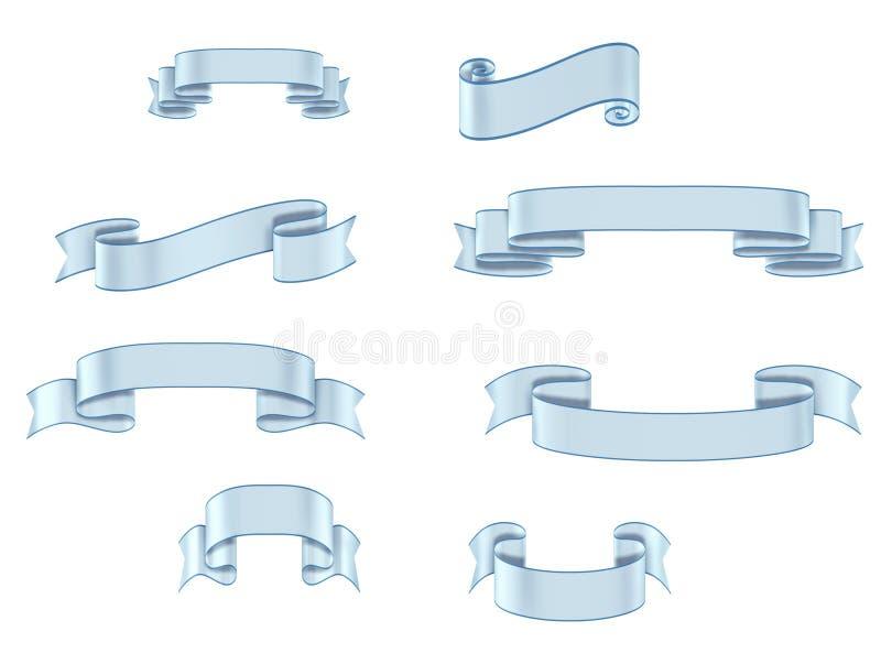 Download Ribbon Banners Light Blue Multiple Sizes Stock Illustration - Image: 14070991