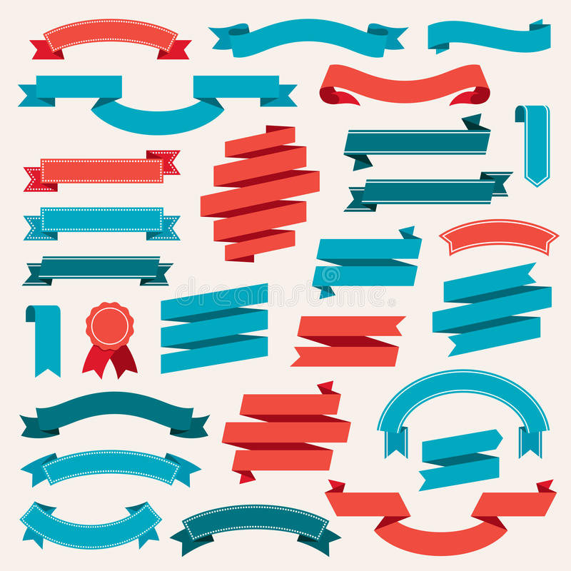Ribbon Banners Retro Collection Vector royalty free illustration