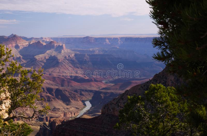 A ribbon of blue in the Grand Canyon stock images