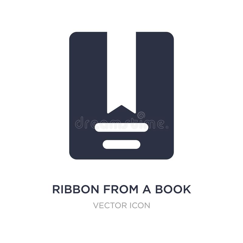 ribbon from a book icon on white background. Simple element illustration from UI concept vector illustration