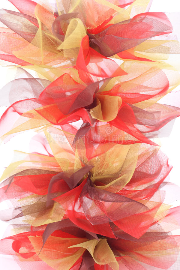 Ribbon bow. Pile of ribbon bows isolated on white royalty free stock photo