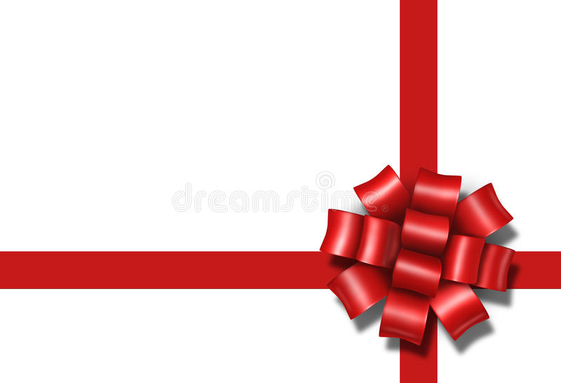 Ribbon bow gift present red box package a vector illustration