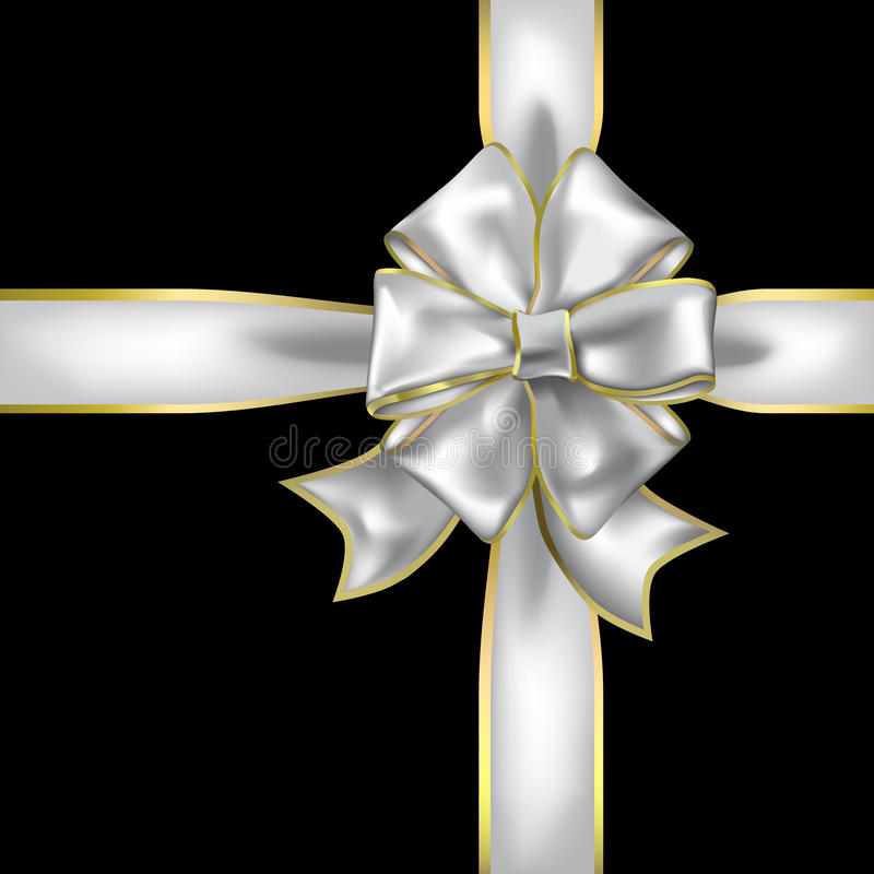 Ribbon and bow object royalty free illustration
