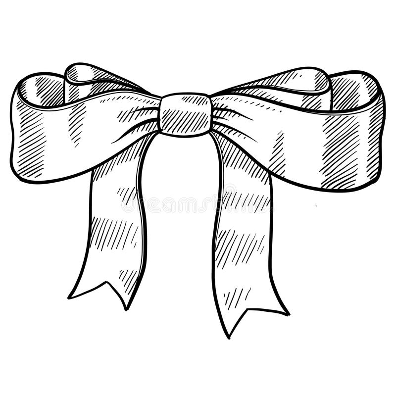Download Ribbon and bow sketch stock vector. Illustration of drawing - 22595832