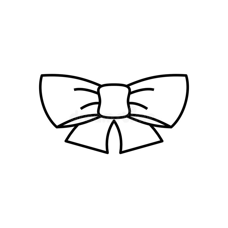 Ribbon bow thin line icon. On white background vector illustration