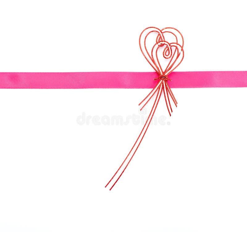 Ribbon bow on white background. Photo of ribbon bow on white background stock photo