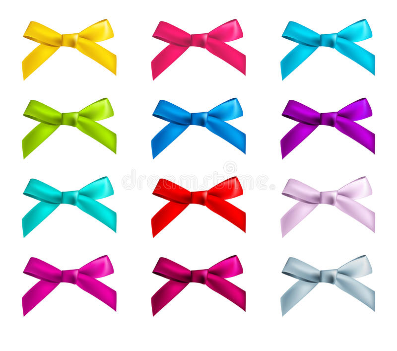 Ribbon bows royalty free illustration