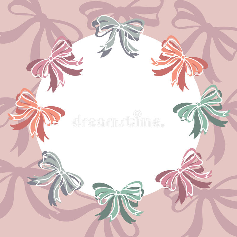Ribbon bows frame with empty space for your text