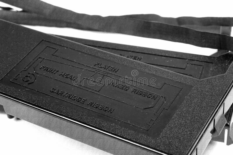 Ribbon cartridges for old dot matrix printers. Closeup image royalty free stock photography