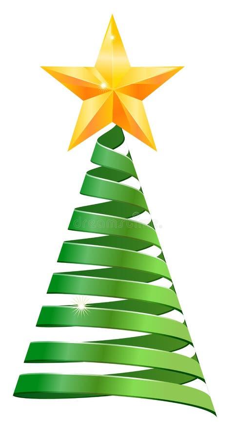 Ribbon Christmas tree stock photos