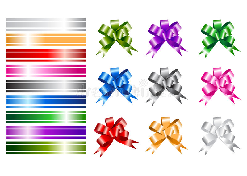 Download Ribbon collections stock vector. Image of decoration, birthday - 6735268