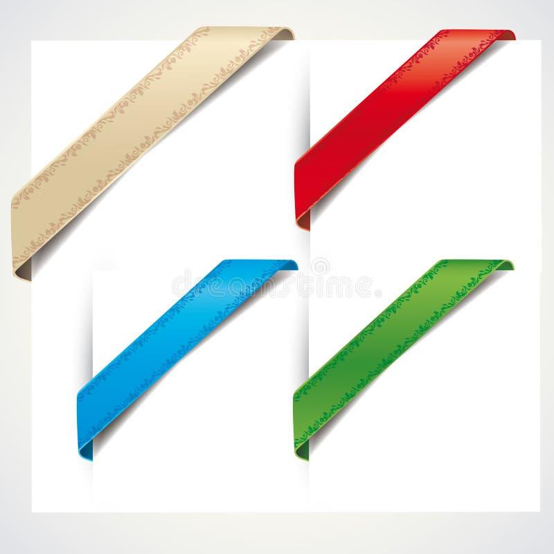 Download Ribbon corner stock vector. Image of empty, background - 24984095