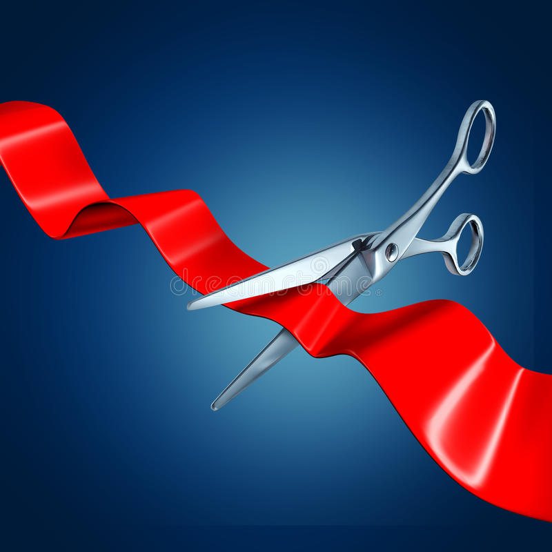 Ribbon Cutting Event Stock Photo