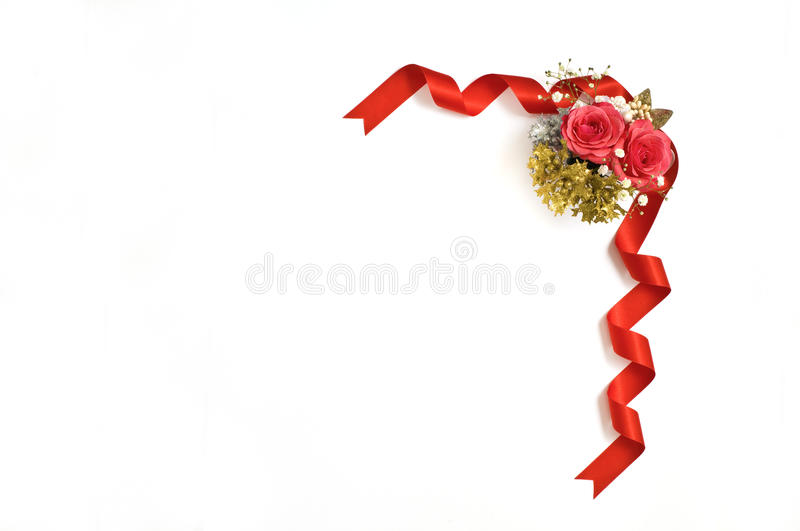 Ribbon. Festive background for using the bouquet and ribbon royalty free stock images