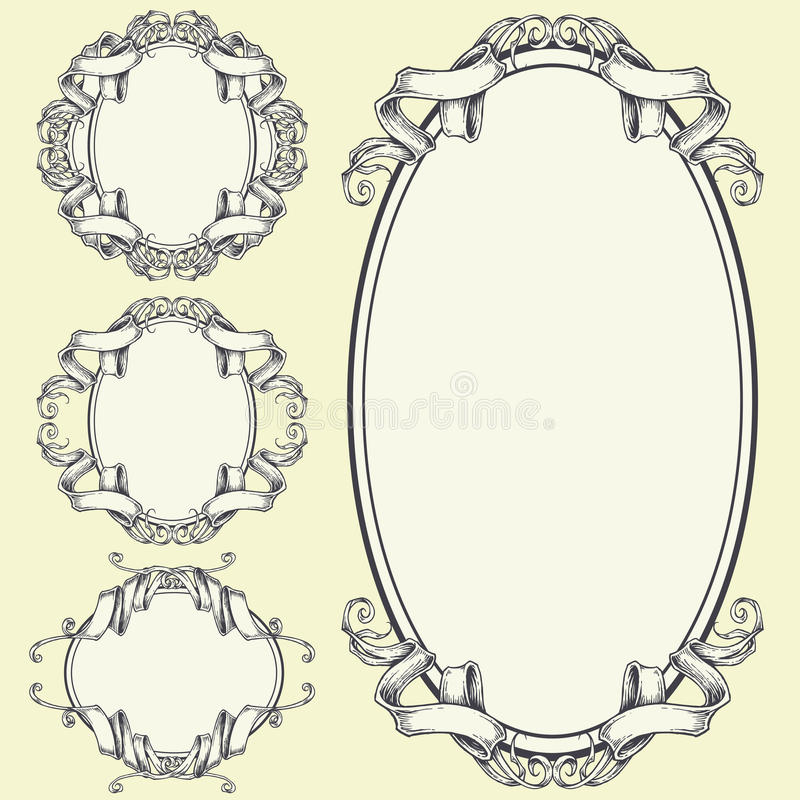 Download Ribbon Frame And Border Ornaments Stock Vector - Image: 42870615