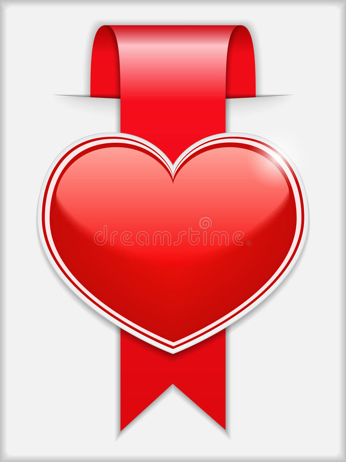 Download Ribbon with Heart stock vector. Illustration of icon - 29042927