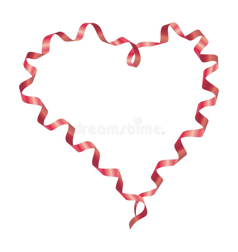 Download Ribbon heart stock vector. Image of heart, artistic, love - 7492371