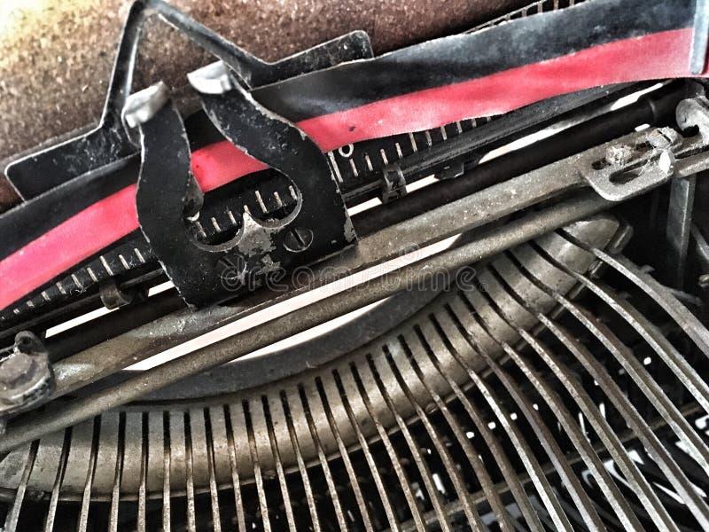 Typewriter. Ribbon of old typewriter stock photos