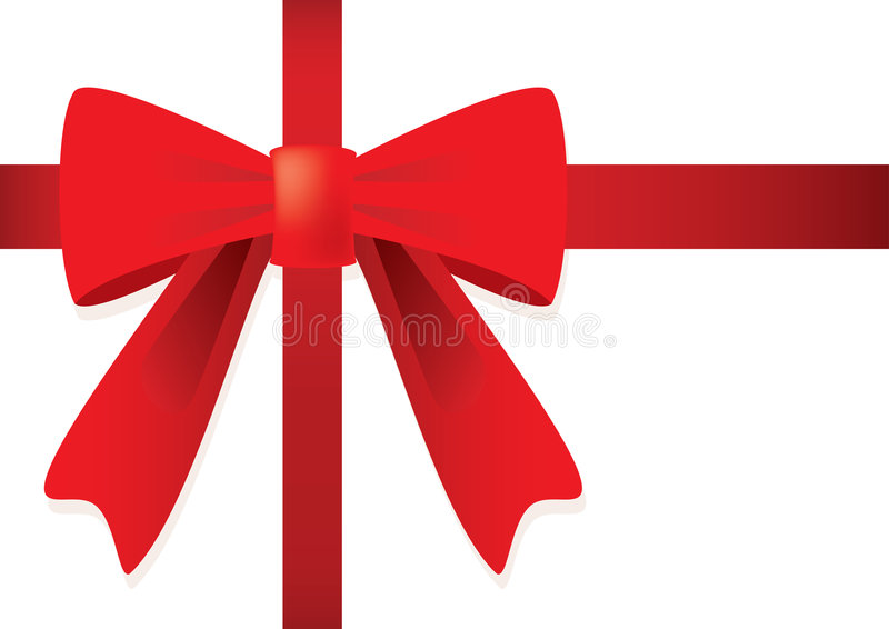 Download Ribbon And Red Bow For Gift. Stock Vector - Image: 6851727