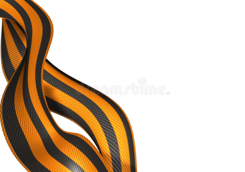 Ribbon of Saint George (russian WWII) royalty free stock photography