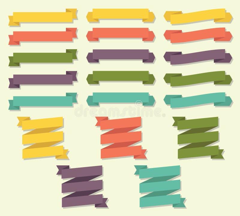 Ribbon Scroll Banner Vector Set royalty free illustration