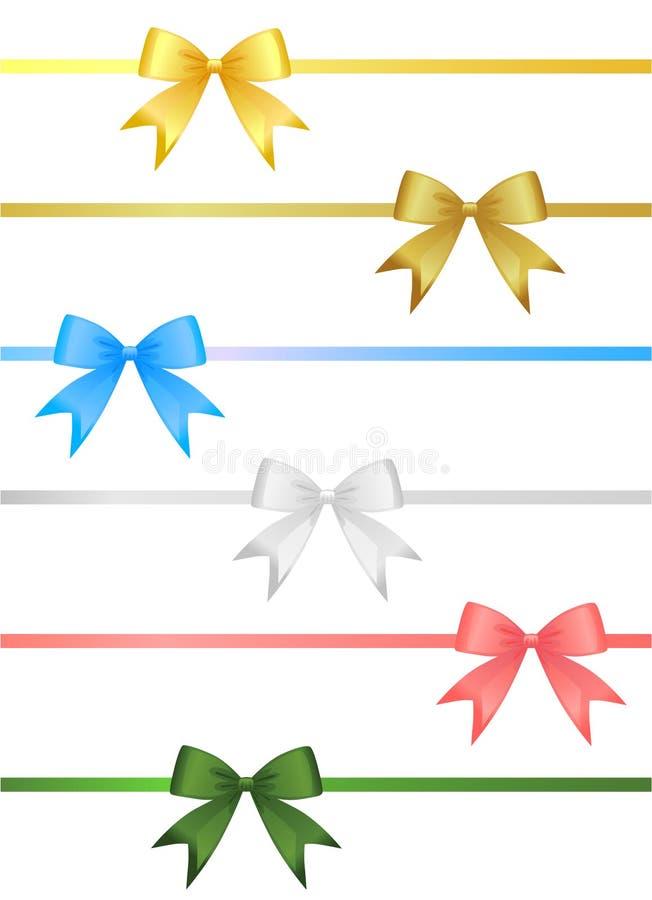 Ribbon set vector stock illustration