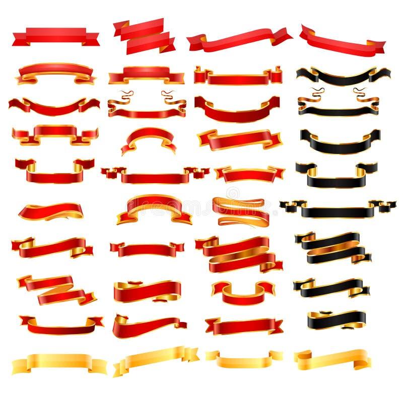 Ribbon set. Vector royalty free stock photos