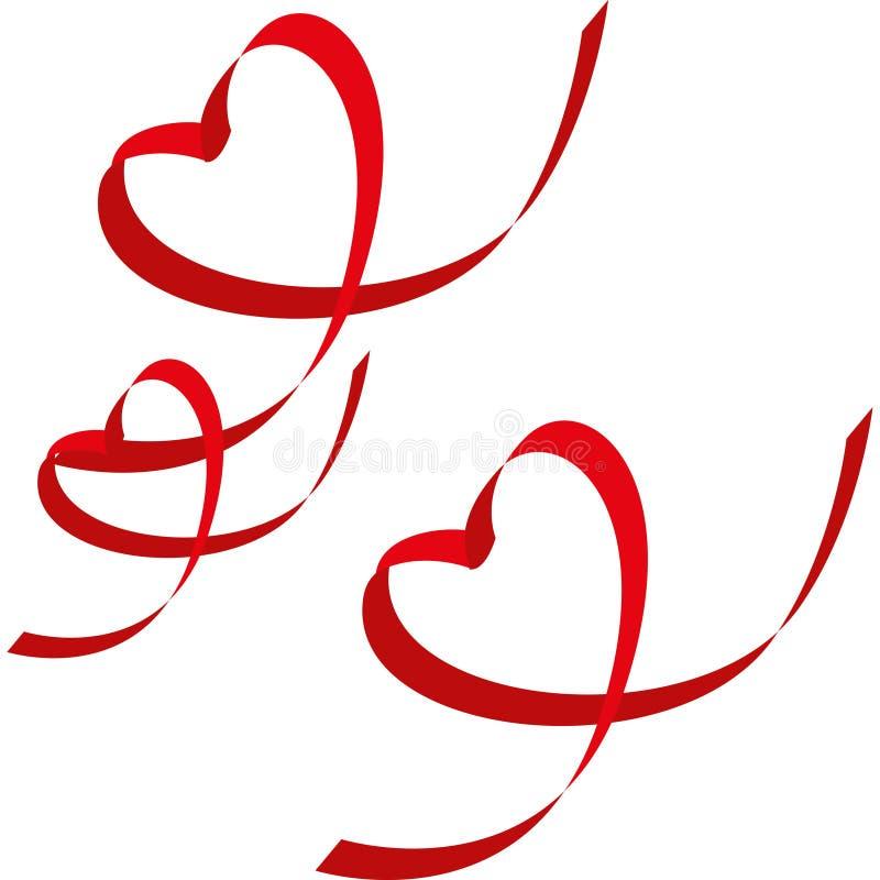Download Ribbon-shaped heart stock illustration. Illustration of love - 18000813