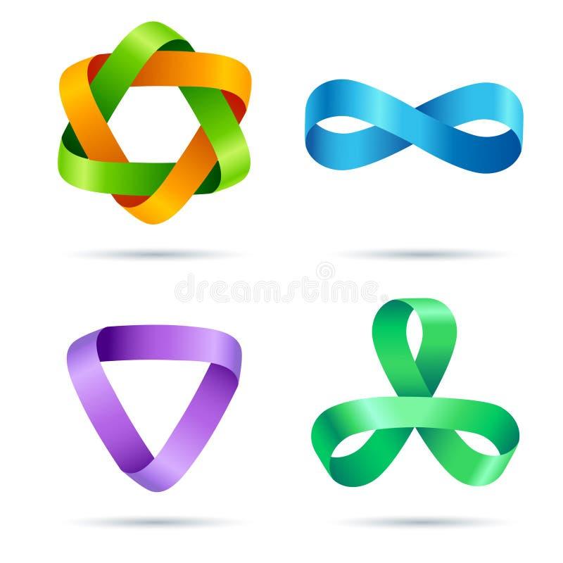 Download Ribbon sign stock illustration. Image of artwork, round - 23355030