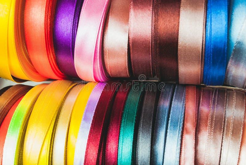 The ribbon spools stock image