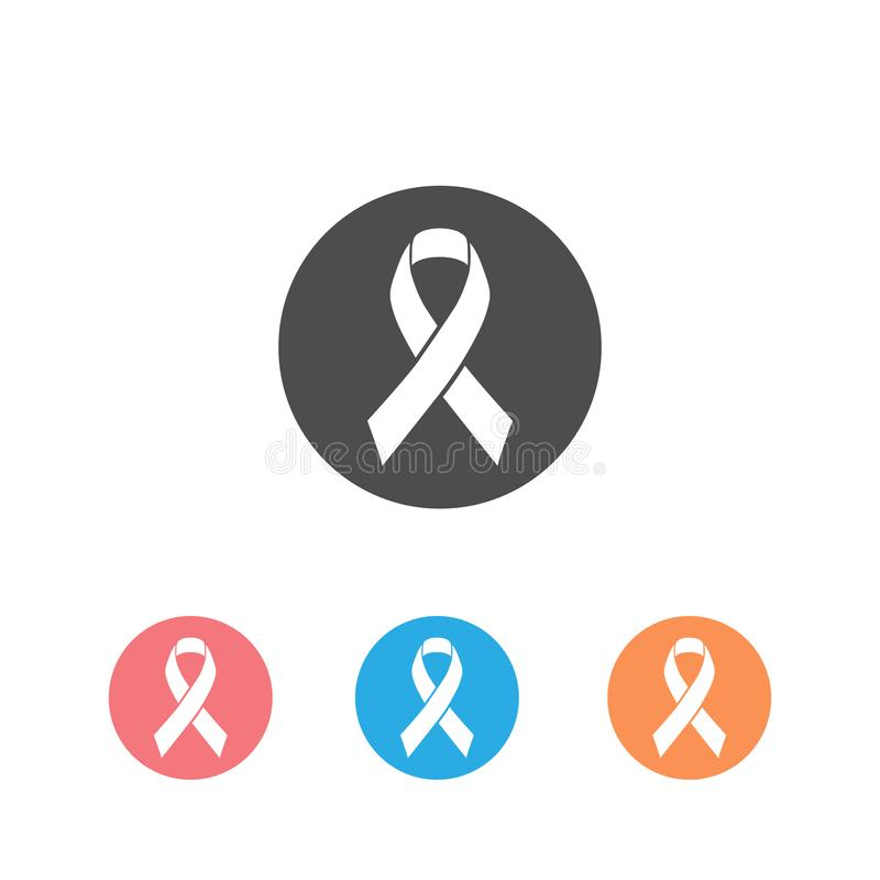 Ribbon the symbol of the world prostate cancer awareness day icon set in november, vector illustration isolated on white. Background. Health Care and support stock illustration