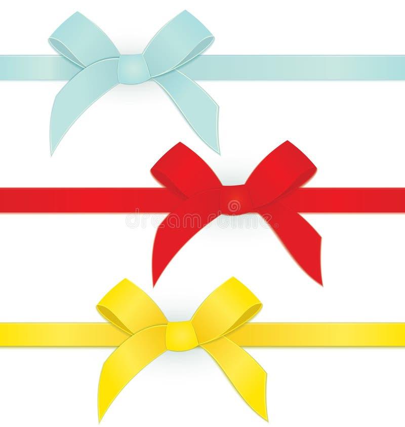 Ribbon three bows vector