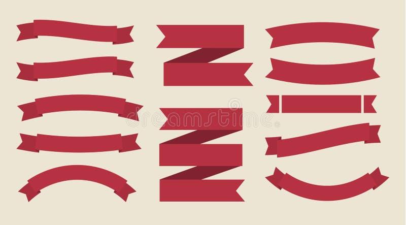 Ribbon vector set royalty free illustration