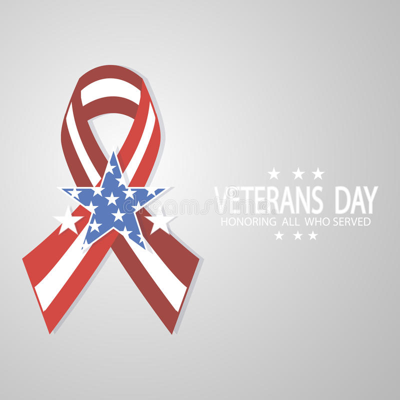 Ribbon for Veterans Day. royalty free stock photo