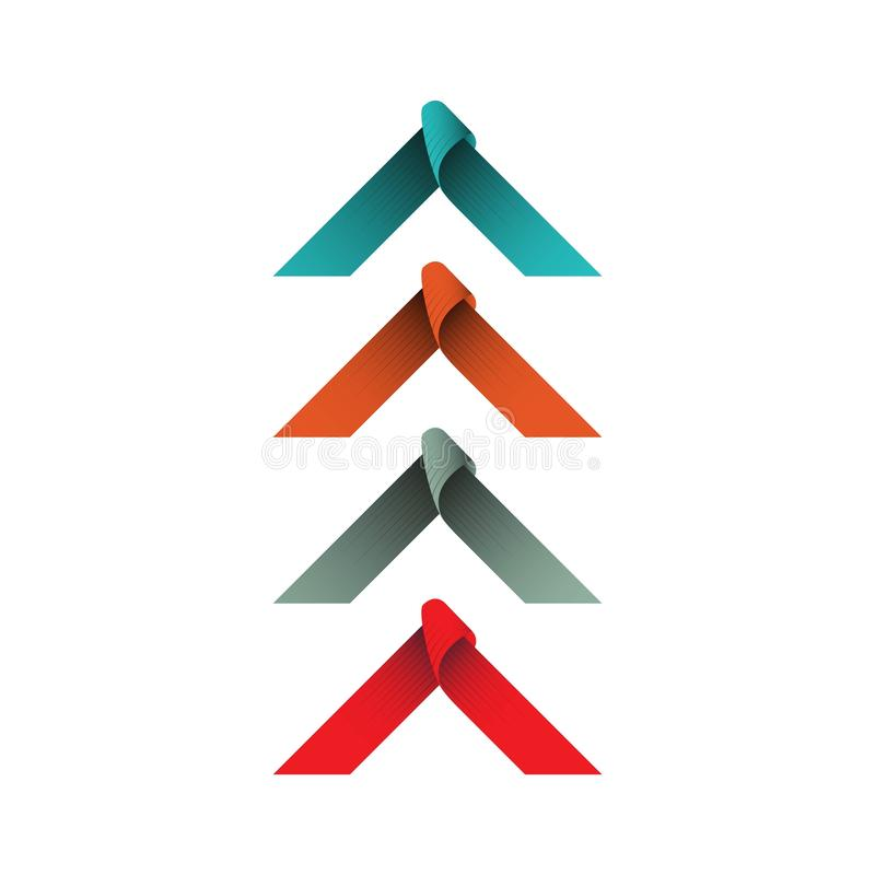 Vintage Ribbon Frame Vector Template Design Illustration. Ribbon vintage vector banner opening illustration badge grand design text retro background ribbons logo stock illustration