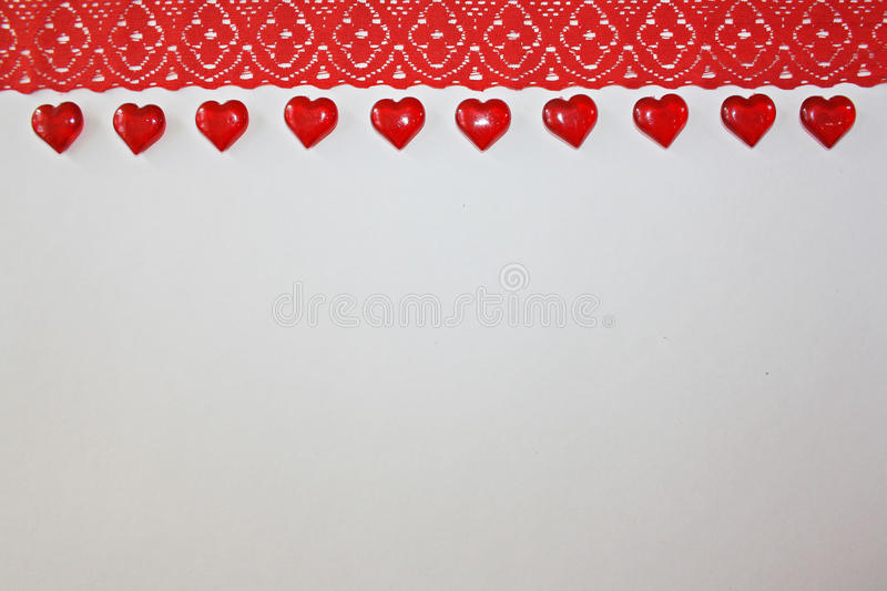 Ribbon on a white background stock images