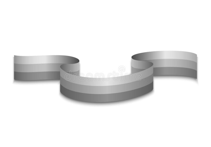 Ribbon on a white background. Template royalty free illustration