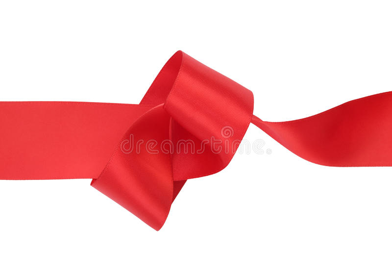 Ribbons. Red ribbon on white background royalty free stock photo