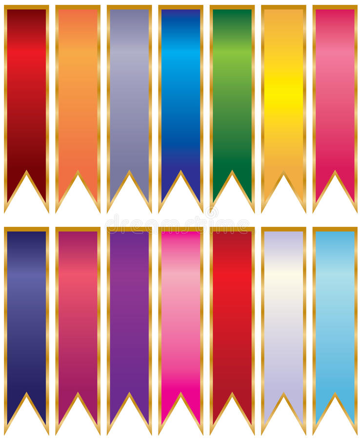 Download Ribbons stock vector. Image of success, scroll, fulfillment - 15448880