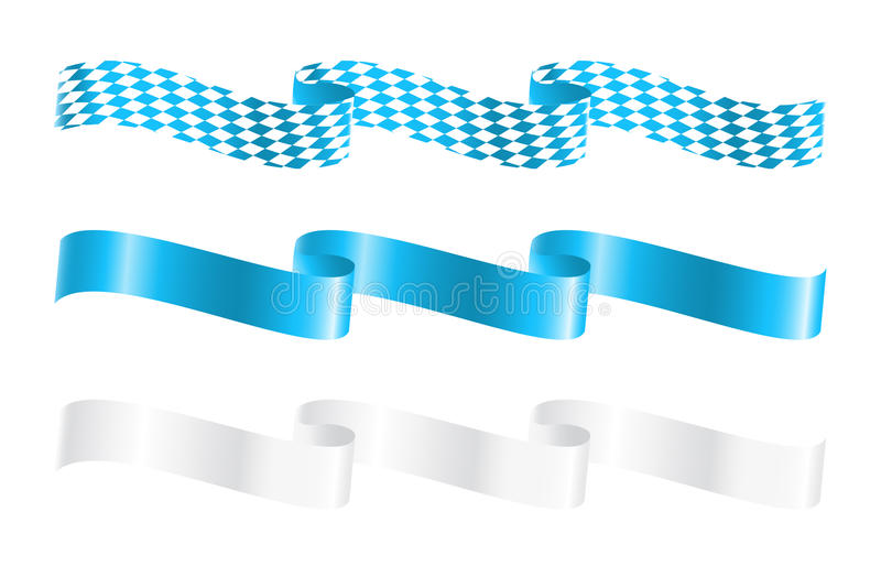 Ribbons in bavarian colors stock illustration