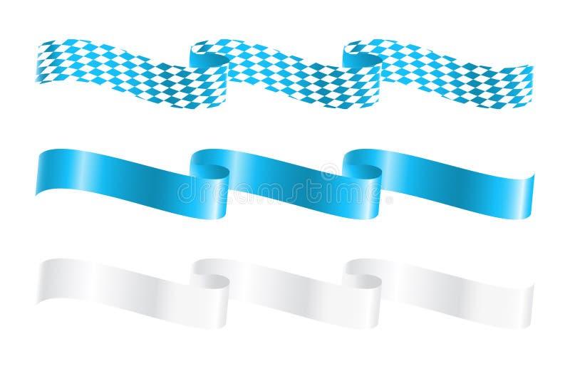 Ribbons in bavarian colors. Vector-Illustration stock illustration