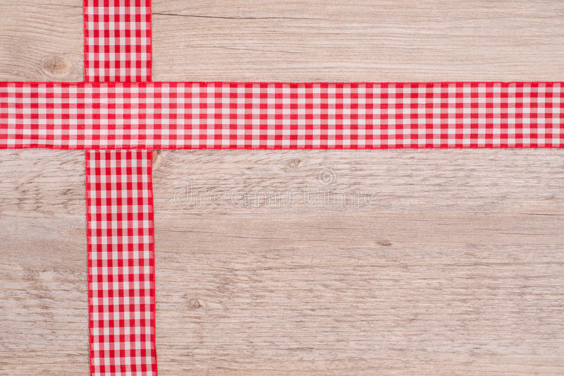 Download Ribbons Of Cloth Red And White Checkered Stock Image - Image: 31033129