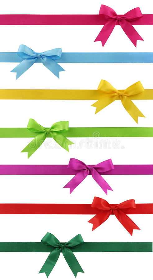 Ribbons collection royalty free stock photos