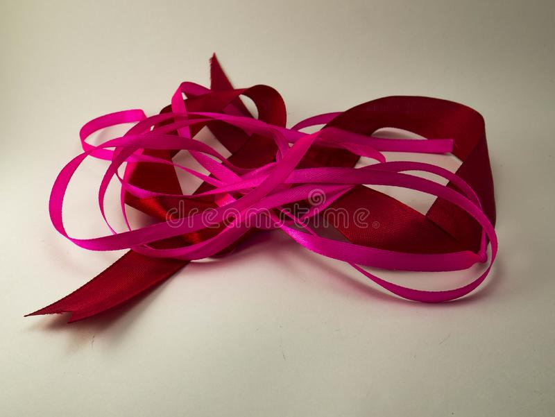 Ribbons. Holiday. Red and crimson. stock images
