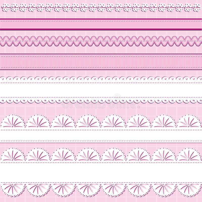 Ribbons And Lace Stock Photography
