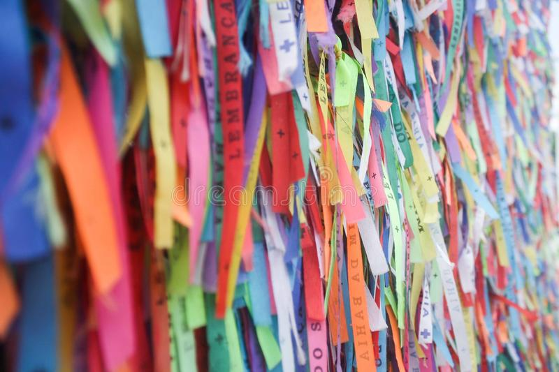 Ribbons for the lord of the bonfim royalty free stock photography