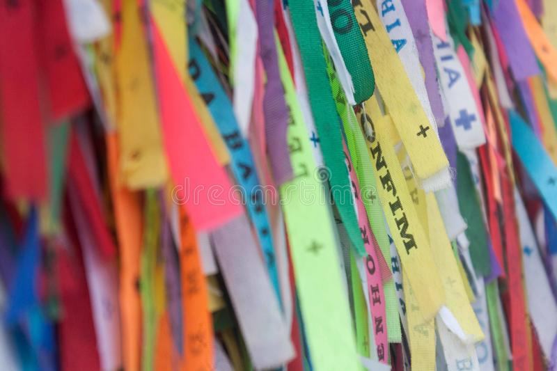Ribbons for the lord of the bonfim stock photos