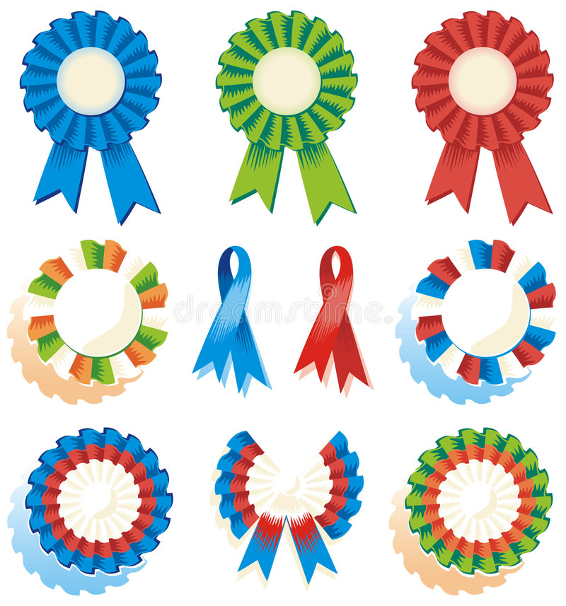 Free Ribbons, Rosettes, Awards Royalty Free Stock Images - 4609649