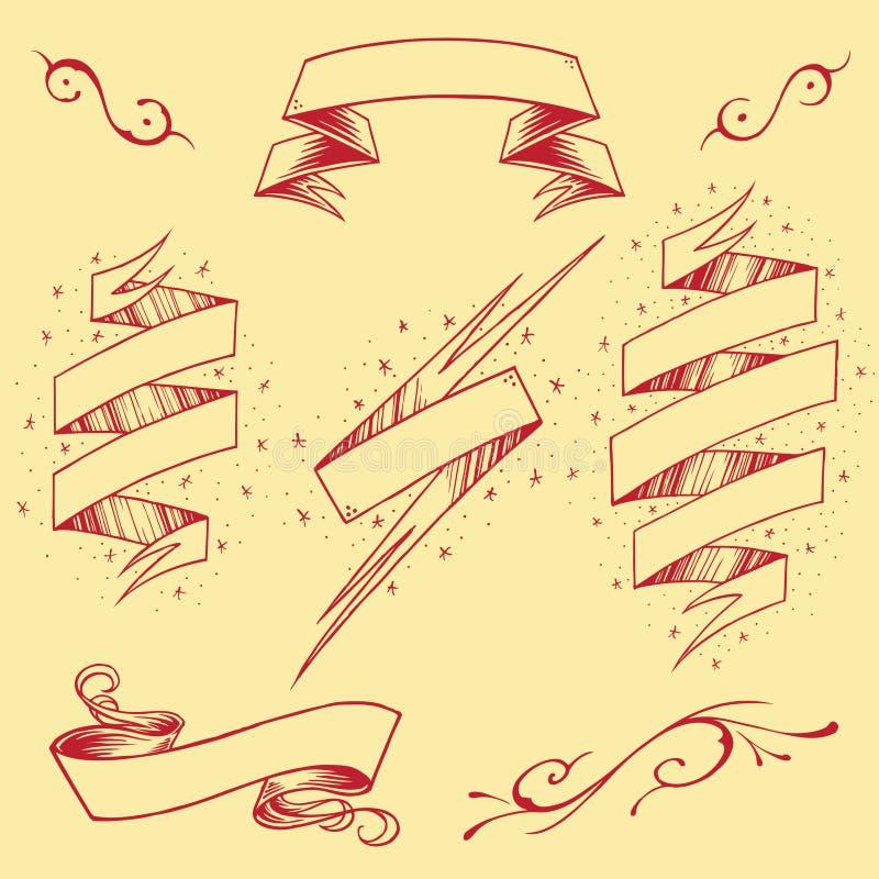 Ribbons Set 03 royalty free illustration